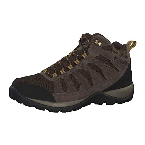 Columbia Men's Redmond V2 MID Waterproof Hiking Shoe, Cordovan, Baker, 10.5 Wide US