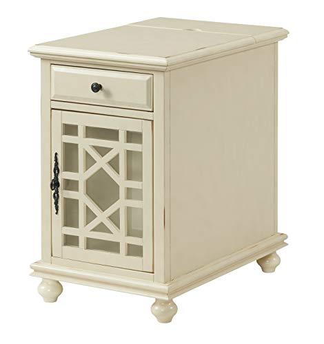 Martin Svensson Home Elegant Chairside End Table, Antique White