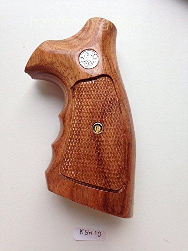 Smith & Wesson K/l Frame Square Butt Revolver Grips Hardwood Finger Groove Checkered Handmade #Ksw10