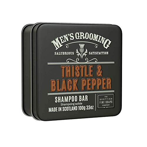 Scottish Fine Soaps Thistle & Black Pepper Solid Shampoo Bar 100g