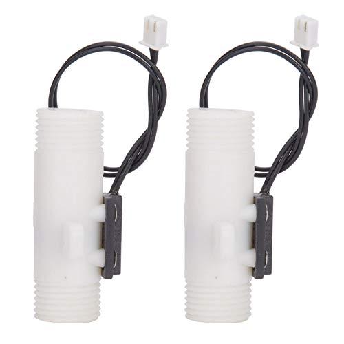 Agatige FS G1/2in 2 uds Interruptor de Sensor de Agua de plástico Interruptor de Gravedad Tipo Doble Rosca Macho para Calentador de Agua eléctrico