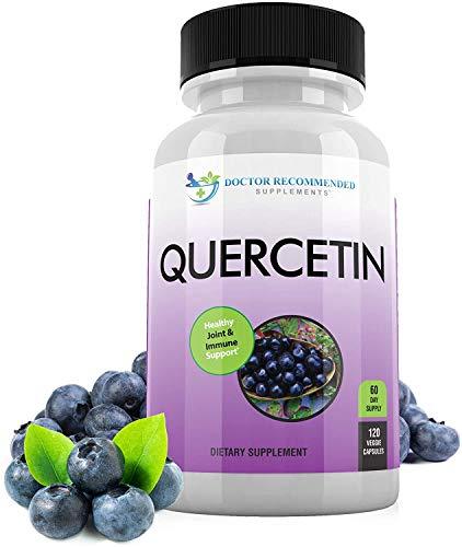 Quercetin 1000mg Per Serving - 120 Veggie Capsules, Full 60 Day Supply - Vitamin Supplement to Support Cardiovascular Health, Immune Response and Anti-inflammatory, (Vegan   Non-GMO)