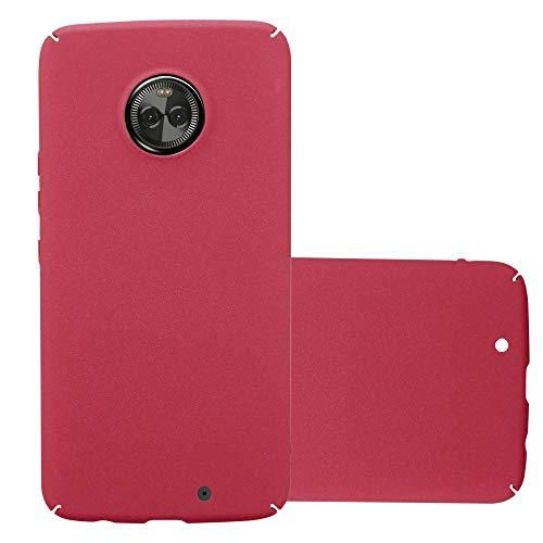 Cadorabo Hülle für Motorola Moto X4 in Frosty ROT - Hardcase Handyhülle aus Plastik gegen Kratzer & Stöße - Schutzhülle Bumper Ultra Slim Back Hülle Hard Cover