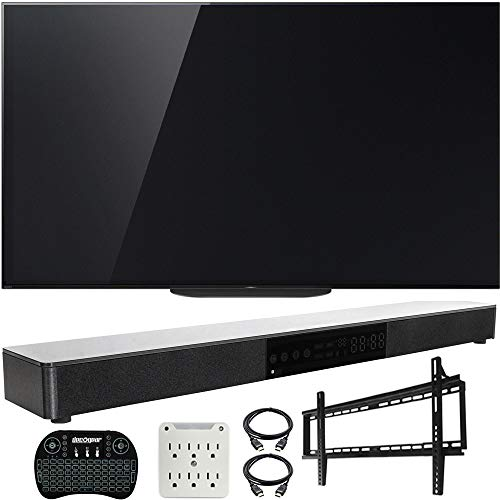 """Sony XBR-77A9G 77"""" Master BRAVIA OLED 4K HDR Ultra Smart TV (2019) w/Soundbar Bundle Includes, Deco Gear Home Theater Surround Sound 31"""" Soundbar, Flat Wall Mount Kit for 45-90 inch TVs and More"""