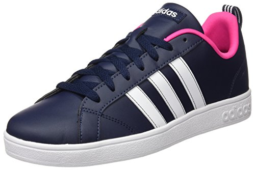 adidas Damen Advantage Sneaker, Schwarz (Collegiate Navy/FTWR White/Shock Pink), 38 EU