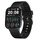 Smartwatch Uomo, 1,75 Pollici Orologio Intelligente, IP68 Impermeabile Fitness Tracker con Frequenza Cardiaca Personalization Watch Face Smart Watch Notifica Messaggi Orologio Sportivo per Android iOS