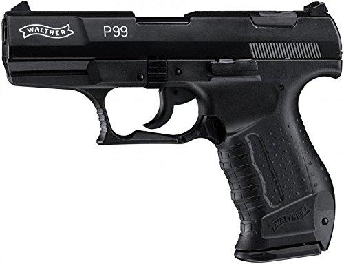 Walther Softair P99 mit Maximum 0.08 Joule, schwarz, M