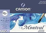 Canson Aquarelle Montval 200807317 Papier pour aquarelle 12 feuilles 18 x 25 cm Blanc Naturel
