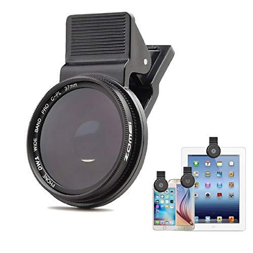 Linghuang 37MM Lente Filtro del teléfono Celular Profesional Polarizador Circular Lente CPL para iPhone 6 7 8 x s Plus/Android Phone y Las cámaras de los teléfonos móviles y Las tabletas