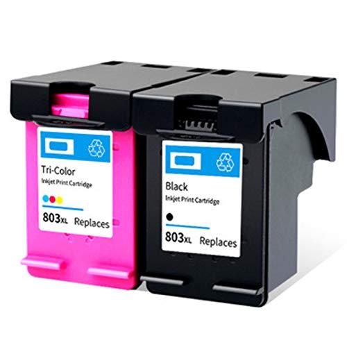 Cartucho de tinta 803xl, compatible con HP Black HP2132 1112 2131 1111 2623 Impresora de inyección de tinta, 1 negro 600 páginas, 1 tri-color 450 páginas