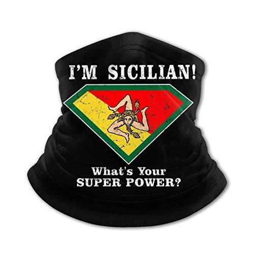 Pañuelo de Seda de Hielo al Aire Libre para Adolescentes del Orgullo Siciliano, pañuelo para la Cabeza, Bufanda cálida para el Cuello, pasamontañas Multifuncional para la Cabeza
