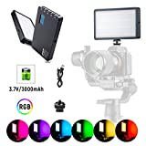 Best Pocket Camcorders - RGB LED Video Light, Portable Mini Built-in Rechargeable Review