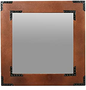 """Hosley's Wooden Frame Mirror- 20"""" High. Ideal for Weddings, Special Occasions, and for Wall Decor, Home, Spa, Aromatherapy, Reiki. P2"""