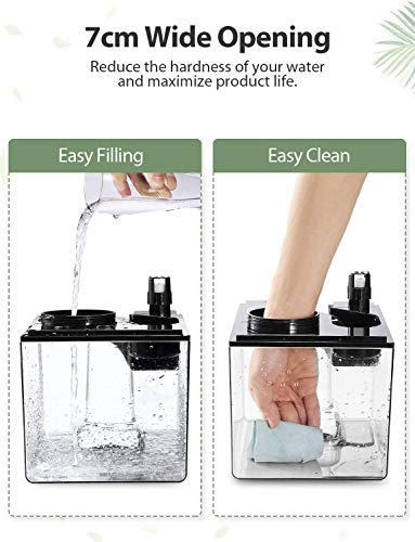 Elechomes Ultrasonic Humidifier 6L, Warm and Cool Mist for Large Room Baby Bedroom, Dual 360° Mist Nozzles with Remote, Customized Humidity, Sleep Mode, LED Touch Display, 12 Hours Timer - EC5501