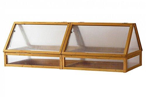 VegTrug Praktisches Hochbeet Medium Frühbeetaufsatz, hochwertigem FSC-Zedernholz, ca. 184 x 80 x 66 cm, Gemüsebeet Pflanzenschutz, Erweiterung, pflegeleicht, stabil, witterungsbeständig