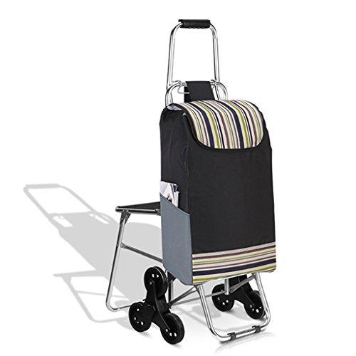 NYDZDM Carrito de la compra de aleación de aluminio de seis ruedas para los ancianos comprar un carro de comida plegable coche hogar cochecito carro coche conveniente y práctico