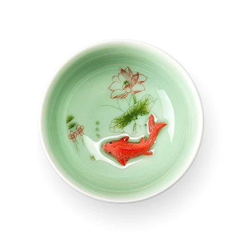 Tea Set Chinese Tea Cup Porcelain Celadon Fish Teacup Set Teapot Drinkware Ceramic China Kung Fu Tea Set Ceramic Cup Chinese Gift D042