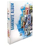 Banknote World Currency Collecting Album, Blue, 100 Pockets