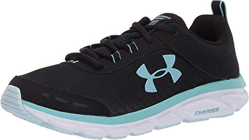 Under Armour Women's Charged Assert 8 Running Shoe, Black (004)/White, 7.5