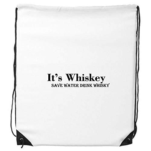 DIYthinker Het is Whiskey Save Water Drink Whiskey Trekkoord Rugzak Winkelen Sport Tassen Gift