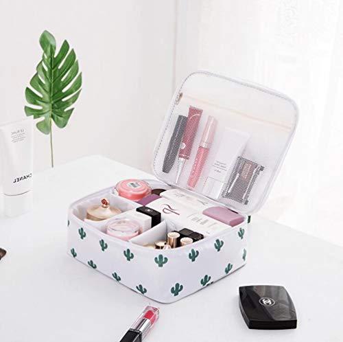 Storage basket24 * 20 * 9cm Tissu Oxford Cosmetic Petit Sac Lady Mini Cosmetic Case,Cactus