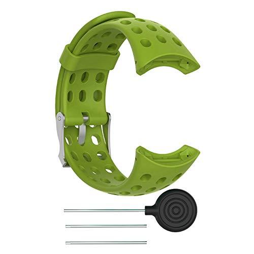 Smartwatch Cinturino in Gomma Siliconica Morbida per Uomo Cinturino di Ricambio per Bracciale per Suunto M1 M2 M4 M5(Ciano)