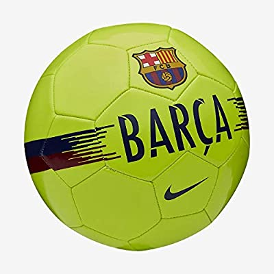 Nike FC Barcelona Supporters Football Unisex Adult, Volt/Noble Red/Deep Royal Blue, 5