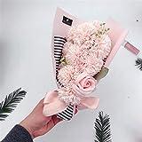 SJHQ Flor Preservada 11 unids Clavel/jabón Rosa Flores Caja de Regalo Hecho a Mano Flores a Mano para el día de San Valentín Día del Profesor de la Madre Fondo de Regalo de cumpleaños Flor Artificial