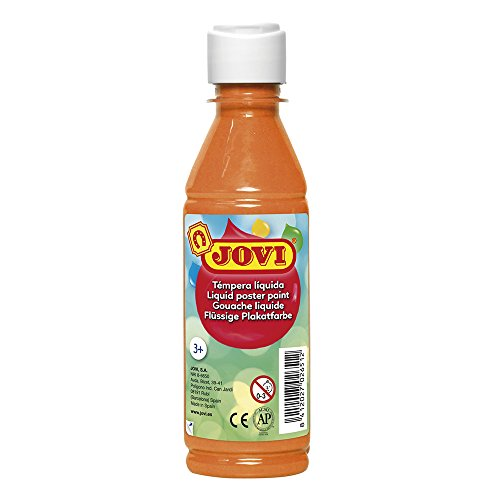 Jovi- Tempera liquida, Color naranja, 250 Ml (50206)