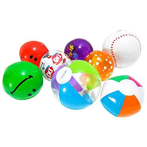 Set van 10 opblaasbare waterbal, zwembal, strandbal, bonte speelgoedbal, opblaasbare zwembad party water spel ballon waterbal speelgoed leuk opblaasbare waterbal voor kinderen op het strand