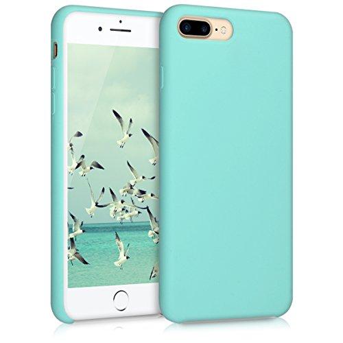 kwmobile Custodia Compatibile con Apple iPhone 7 Plus   8 Plus - Cover in Silicone TPU - Back Case per Smartphone - Protezione Gommata Menta
