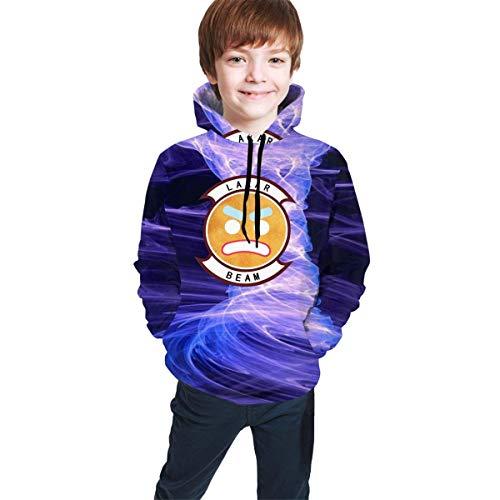 Rogerds Kapuzenpullover Custom Youth Teen Lazarbeam Logo Winter Hoodie Sweatershirt Long Sleeve Pullover Hoodies for Teens Boys Girls Clothes