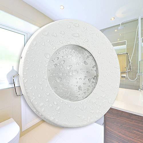 Spot encastré blanc LED - rond 9 Watt blanc chaud super plat 230V - convient pour salle de bain, extérieur IP44 - design élégant, transformateur intégré - 60mm de diamètre - spot