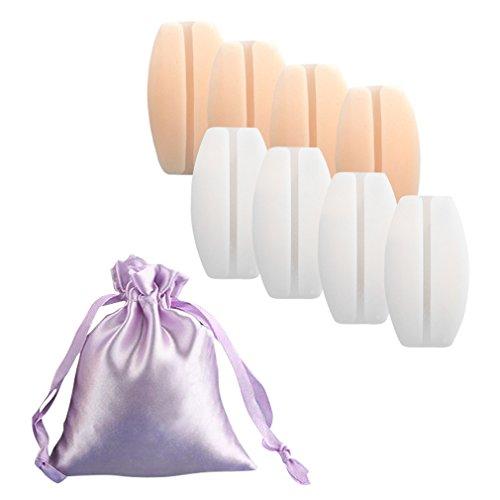 Hikong 4er/6er Pack Schwangerschafts Mutterschaft Slips Spitzenhöschen Baumwolle Low Waist Umstandskleidung Umstandsmode Unterwäsche Unterhosen mit Wäschebeutel, Weiß, Einheitsgröße