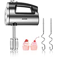Aicok 6-Speed 300W Powerful Electric Hand Mixer with Eject Function and 4 Stainless Steel Accessories