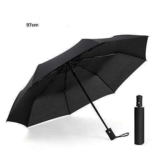 Winddicht Geventileerde luifel Travel Paraplu, Volledig automatische paraplu, mannen en vrouwen vouwen drievoudige winddichte zonnige paraplu, Mini Kleine Compacte vouwen Travel Paraplu