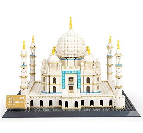 WANGE Taj Mahal di Agra. Modello d'architettura da assemblare con mattoncini.