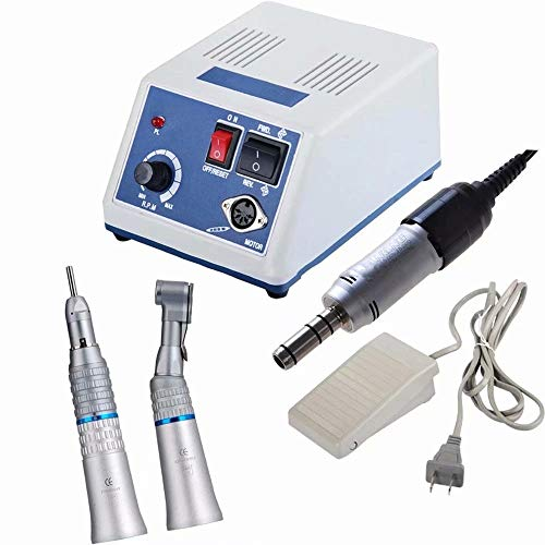 35000 rpm Micro Motor Electric Devices Lab Grinding Machine + Contra Corner Straight Nose Cone
