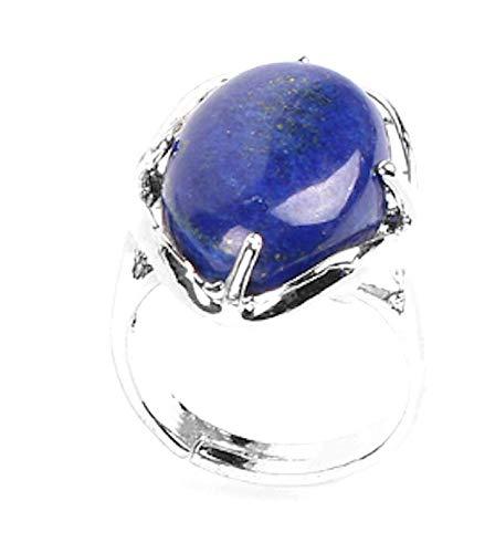 PIERRETOILES Anilla cabujón Protección minerale (Lapislázuli)