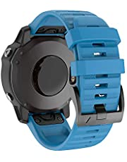 حزام الساعة من IMAYCC ، عرض 22 مم استبدال من السيليكون الناعم، سوار معصم جيد التهوية لـ Garmin Fenix 5/5 Plus، فينكس 6/6 برو، فوررنر 935/945، أبروتش S60، Quatix 5، مقاوم للماء، مناسب سريع