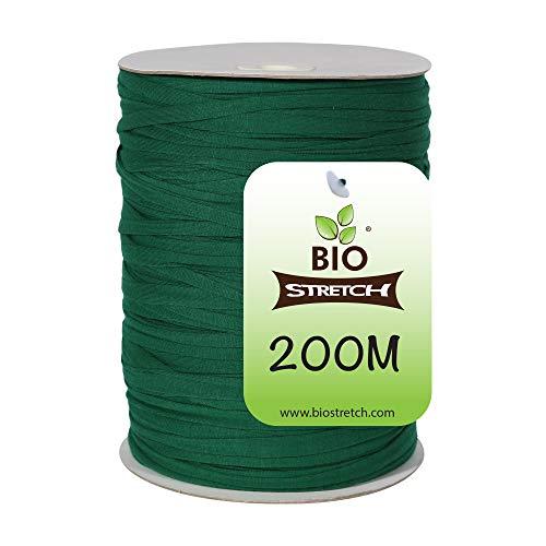 Biostretch, Guita de jardín elástica suave respetuosa con el medio ambiente inteligente no torcedura alambre para plantas (Bio Drum 200M)
