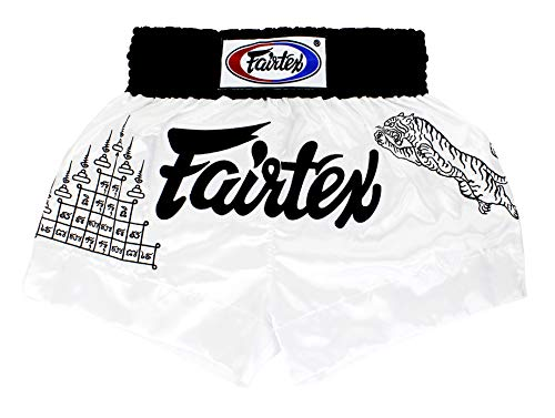 Fairtex Muay Thai Boxing Shorts Traditional Styles White