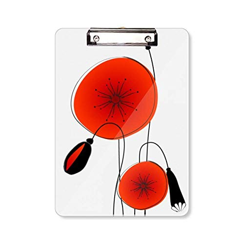 Abstract Bloemen Schilderij Maïs Papaver Klembord Folder Schrijven Pad Achterplaat A4