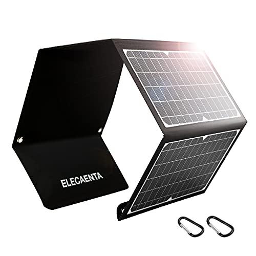 Cargador Solar Portátil 30W 3 Puertos USB Cargador Panel Solar ETFE Impermeable QC 3,0 PD18W para Camping Móviles Tablets y Otros USB Dispositivos Digitales