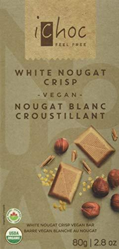 iChoc White Nougat Crisp Rice Choc, 80g