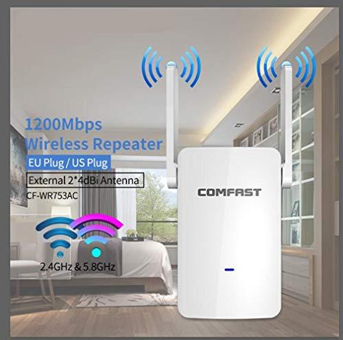 Estable repetidor WiFi 1200mbps inalámbrica Wi-Fi Router/Ap Extender la Red de Largo Alcance de Doble Banda 2.4G y 5.8G WiFi Amplificador de la señal Ap