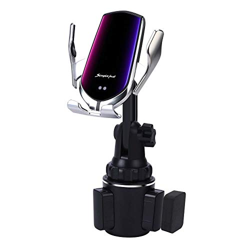 Car Cup Wireless Charger Holder,10W Qi Fast Charging Auto-Clamping Car Phone Charger Mount for iPhone SE/11/11Pro/11Pro Max/XS Max/XS/XR/X/8/8+, Samsung S20/S10 /S9/S8/Note10/Note9, LG, Google Pixel