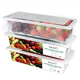 Food Storage Containers, 3 x 1.5L Fridge Organizer Case with...