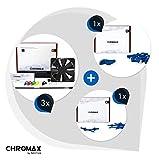 Chromax Paquete Azul: 3x Noctua NF-F12 PWM chromax.black.swap, Ventilador 4 Pines (120mm) + NA-SAVP1 / NA-SAV2 chromax.blue