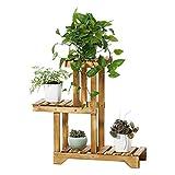 HHTX Soporte de Planta de Pedestal de Madera de 3 Niveles Planta de exhibición de Flores Estante de Almacenamiento de macetas para jardín Interior al Aire Libre
